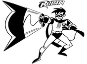 Robin from Batman Coloring Page
