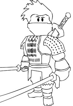Roblox Ninja Coloring Page Free Coloring Pages Online