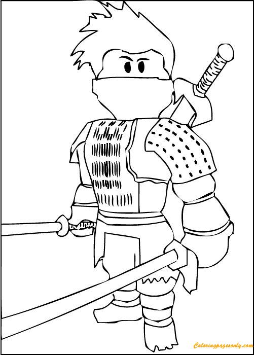 Roblox Ninja Coloring Page