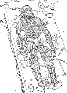 Robot C-3PO Coloring Page