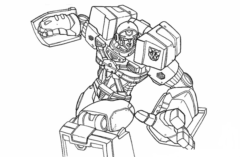 Robot Transformers Coloring Page