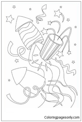 Rockets Coloring Page