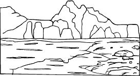 Rocks And Mountain Coloring Page