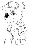 Rocky from Paw Patrol Coloring Page