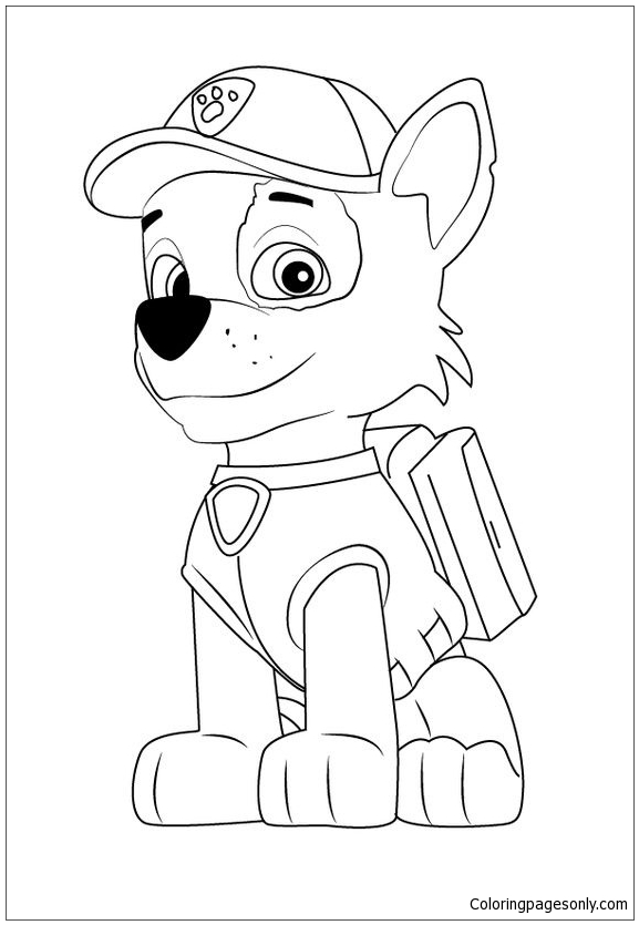 Rocky Paw Patrol Coloring Page Www.robertdee.org