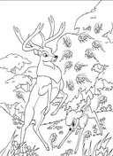 Roe And Bambi In The Forest  from Bambi