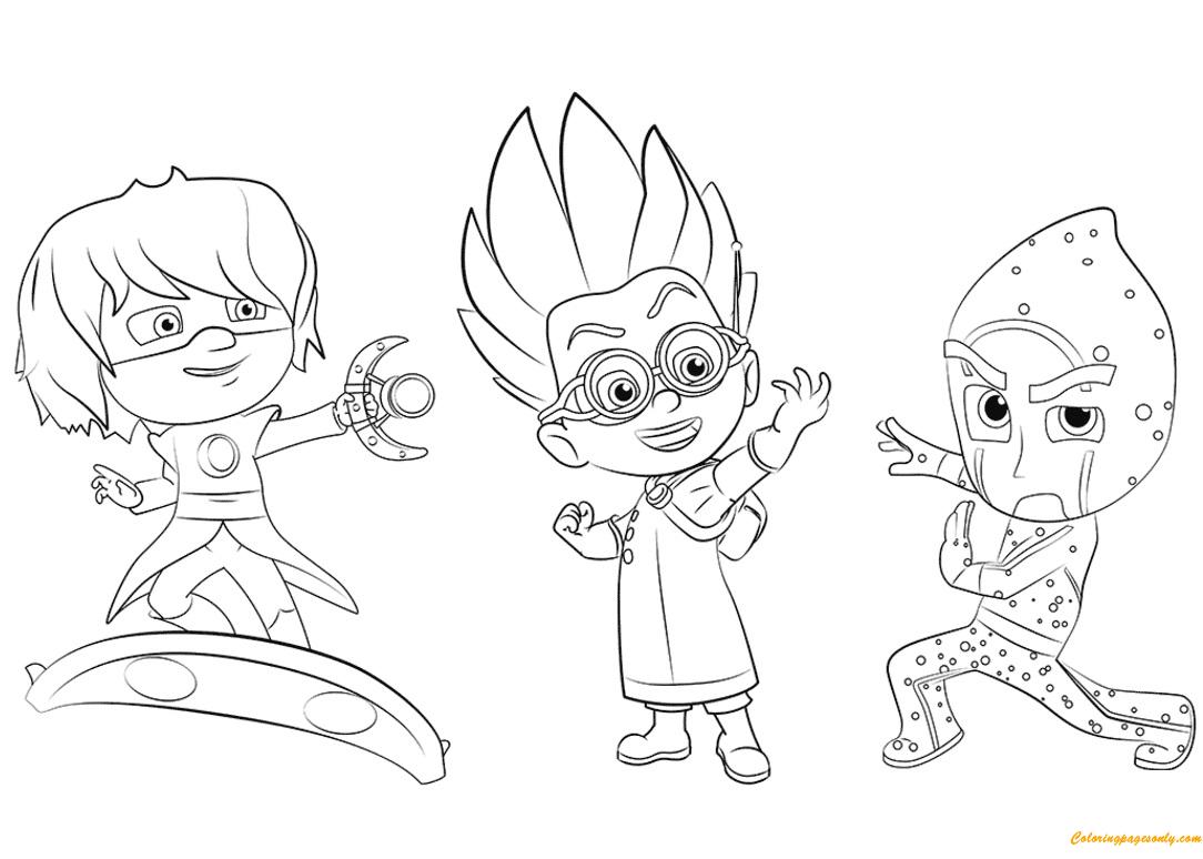 Romeo, Luna Girl And Night Ninja Coloring Page