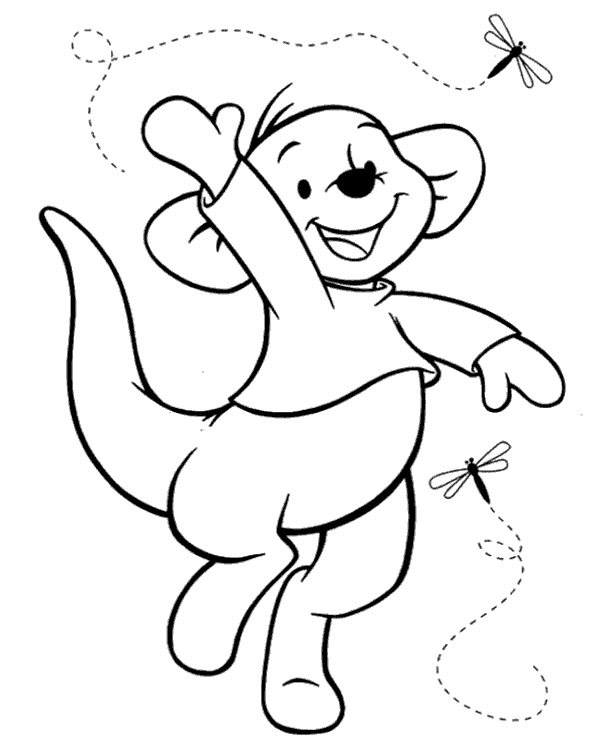 Roo Coloring Page