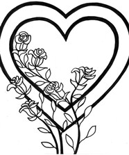 Rose For Valentines Day Coloring Page