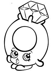 Roxy Ring with Diamond Shopkin Coloring Page