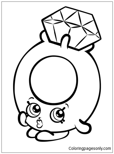 Roxy Ring With Diamond Shopkin Coloring Page Free Coloring Pages