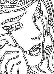 Roy Lichtenstein s Crying Girl Coloring Page