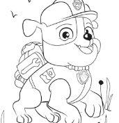 Rubble Paw Patrol Disney Coloring Page