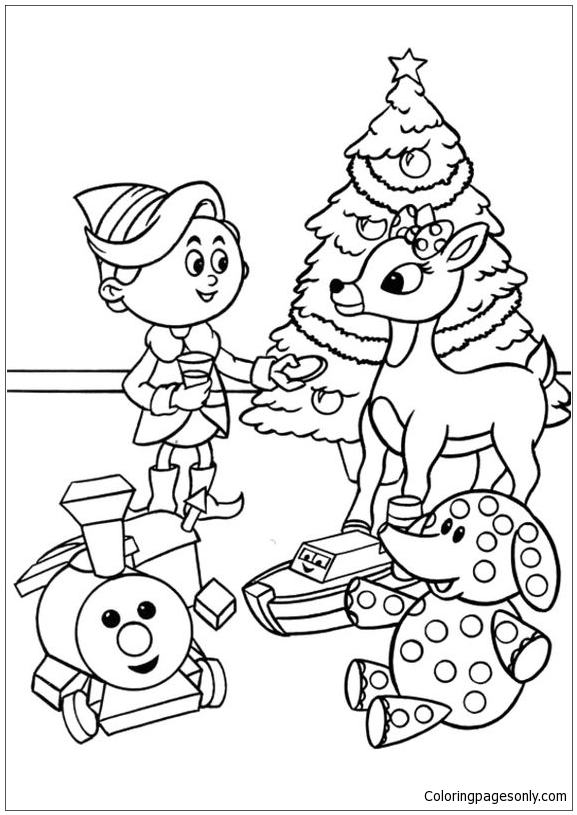 rudolph coloring pages images - photo#40
