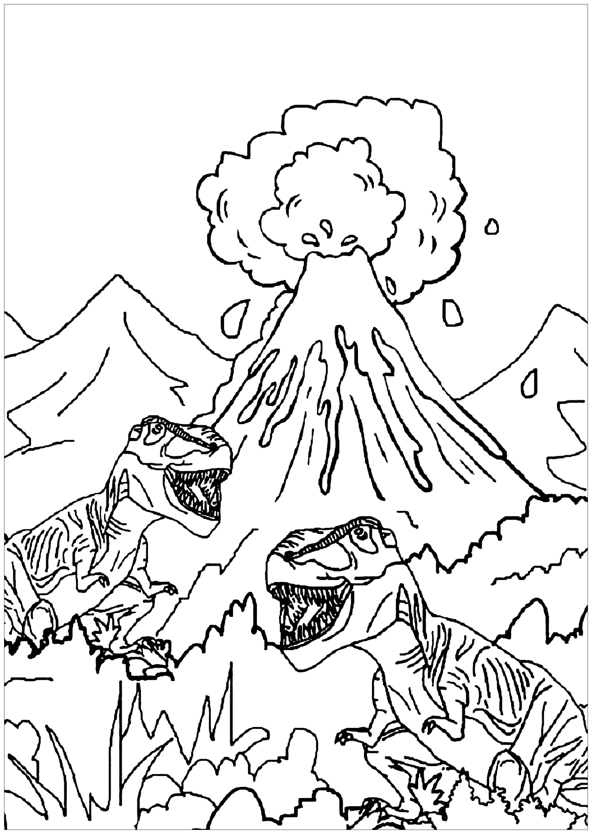 Run out of disaster Coloring Page