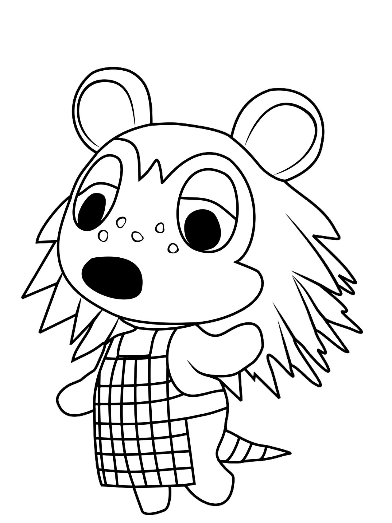 Sable Coloring Page