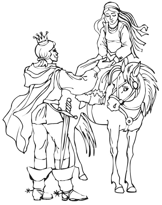 Sad Barbie Horse Coloring Page