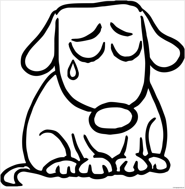 how to draw a sad puppy