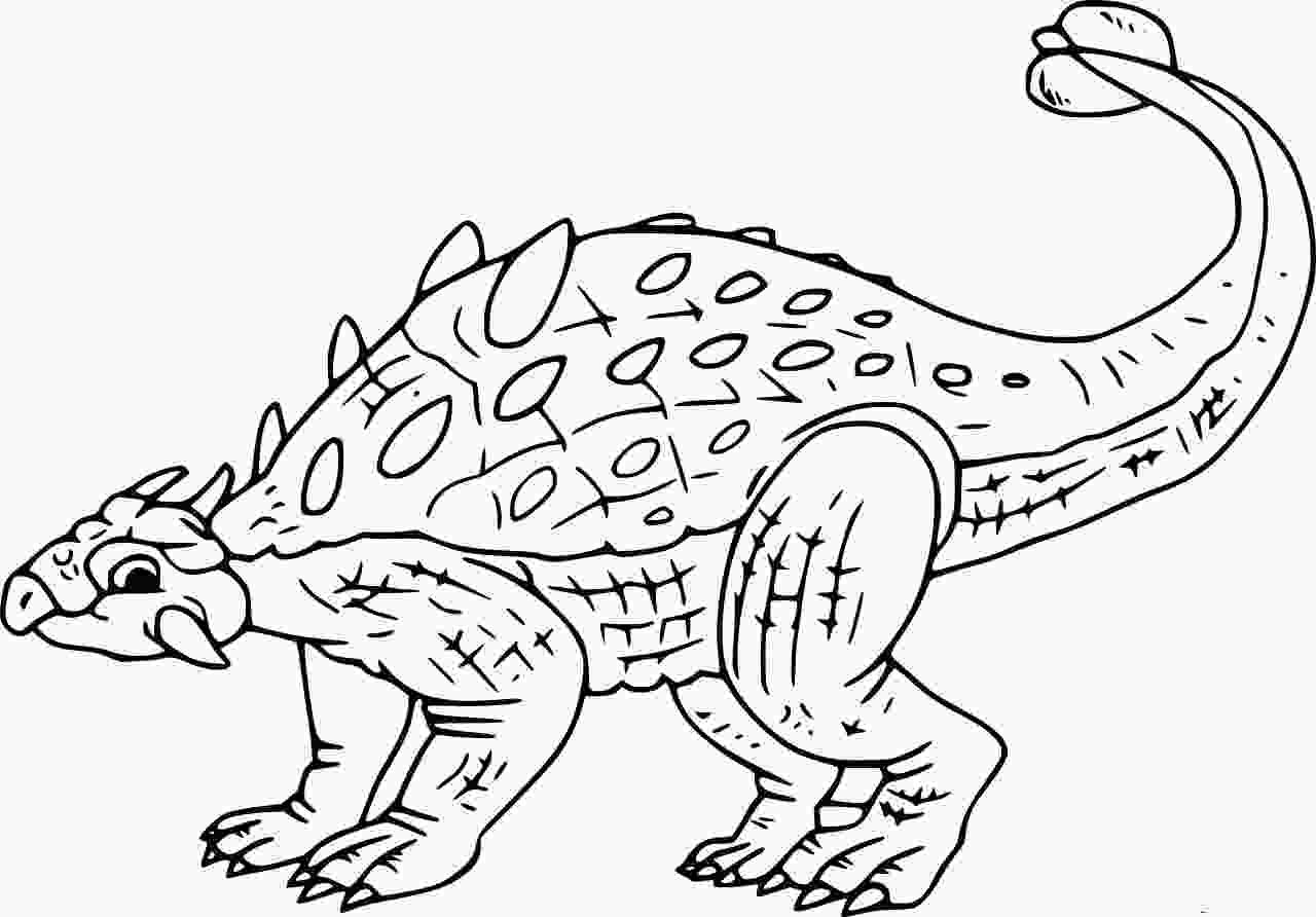 Saichania chulsanensis is a genus of herbivorous Ankylosaurid Dinosaur Coloring Page