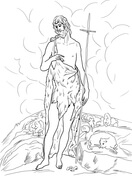 Saint John the Baptist in the Wilderness Coloring Page