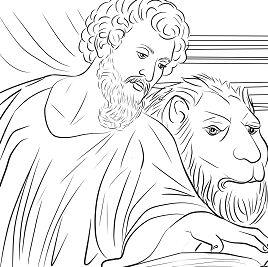 Saint Mark the Evangelist Coloring Page