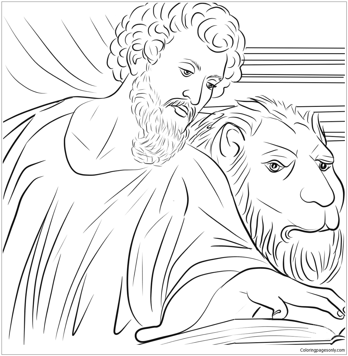 Saint Mark the Evangelist Coloring Page - Free Coloring Pages Online