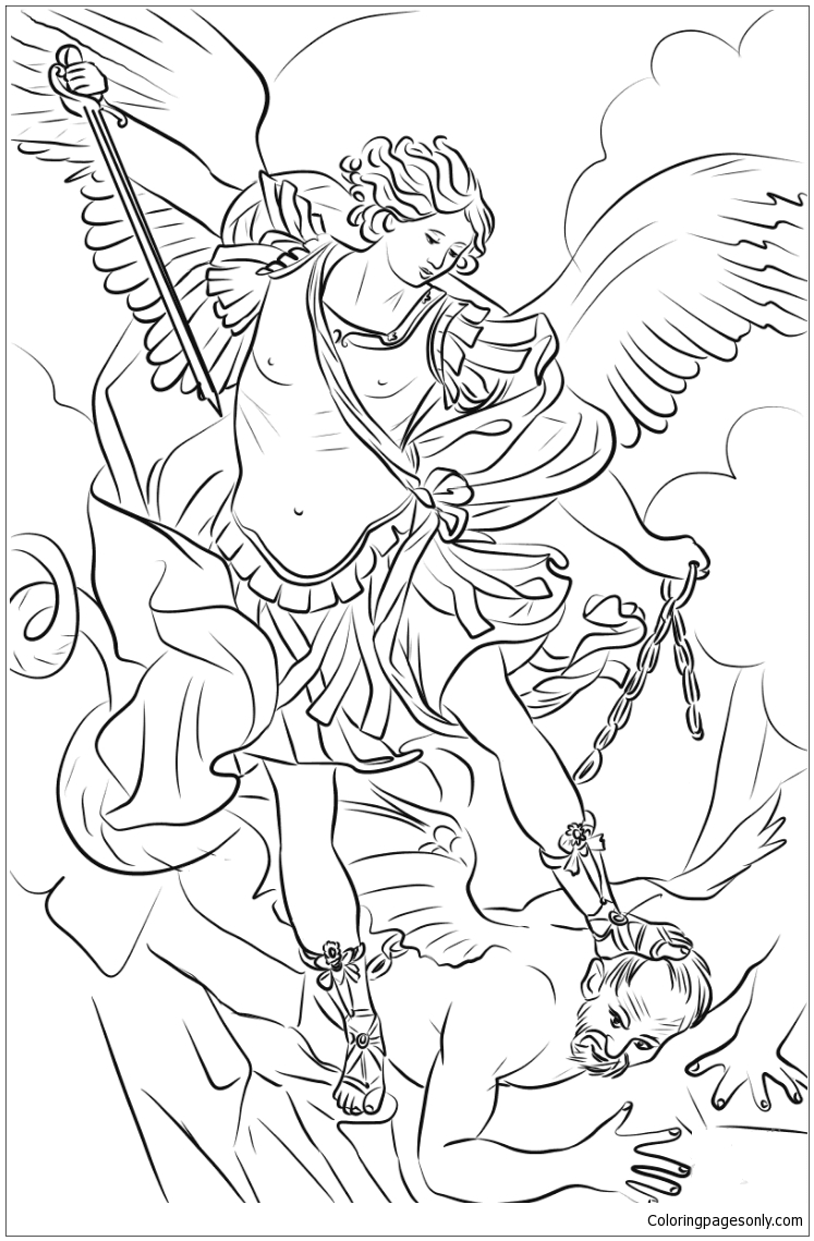 Saint Michael Coloring Page - Free Coloring Pages Online