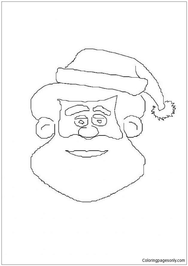 Saint Nicholas Face Coloring Pages
