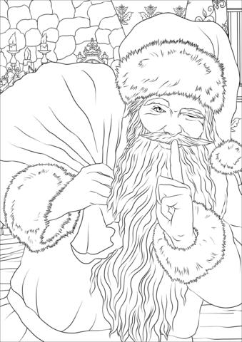 Saint Nickolas Winking Coloring Page