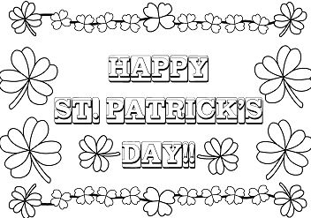 Saint Patricks Day Coloring Page