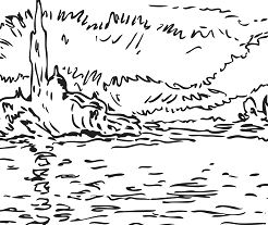 San Giorgio Twilight By Claude Monet Coloring Page