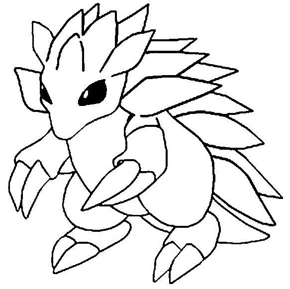 Sandslash Pokemon Coloring Page
