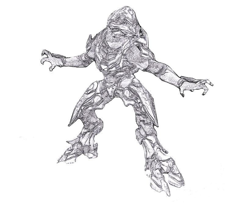 Sangheili from Halo Coloring Page