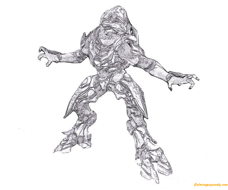 Sangheili From Halo Coloring Page Free Coloring Pages Online