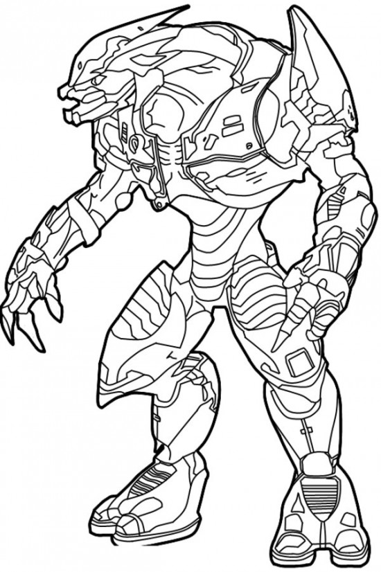 Sangheili Halo Coloring Page