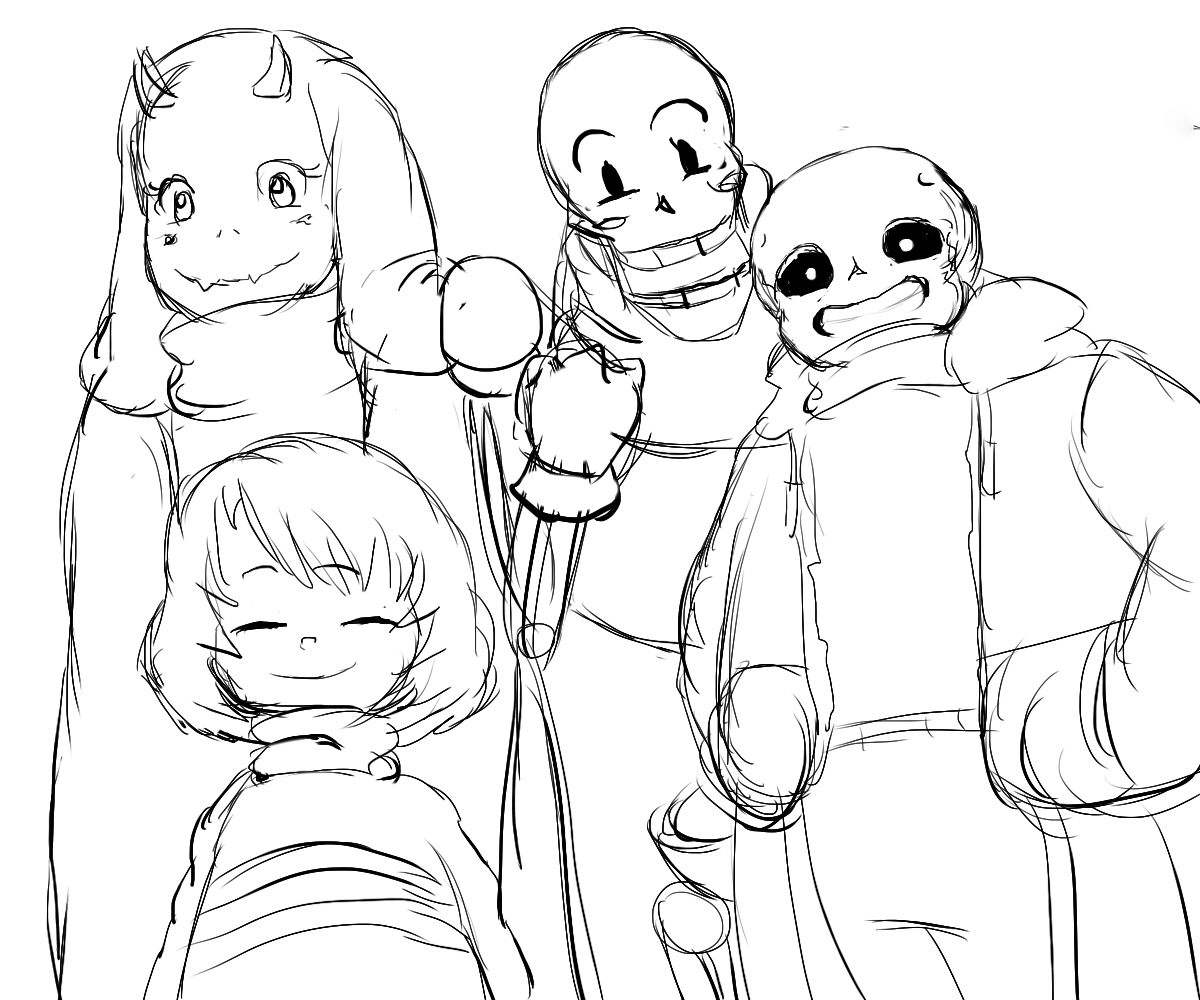 Sans and his friends