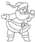 Santa Christmas Coloring Page