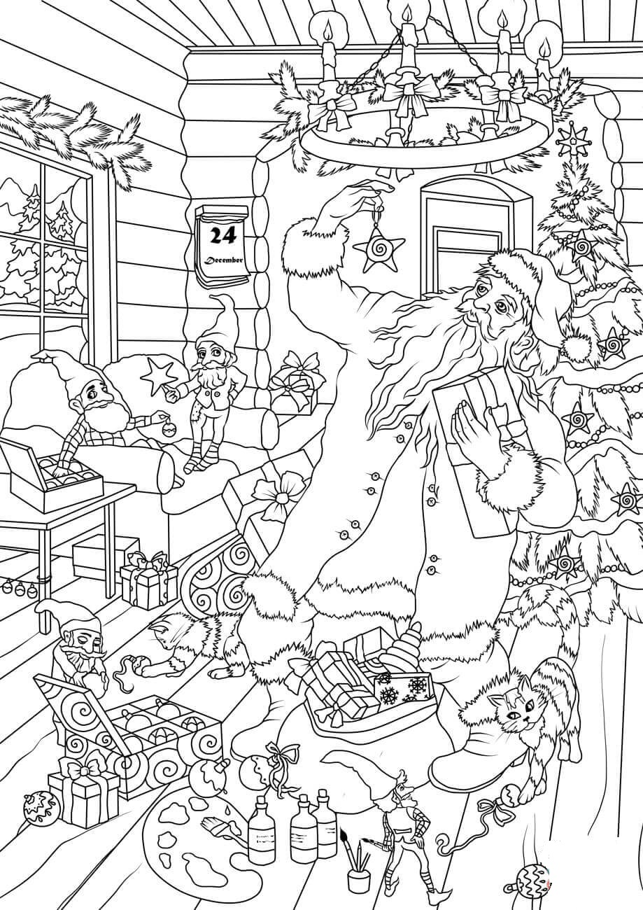 Santa Claus and Elves are Preparing Presents