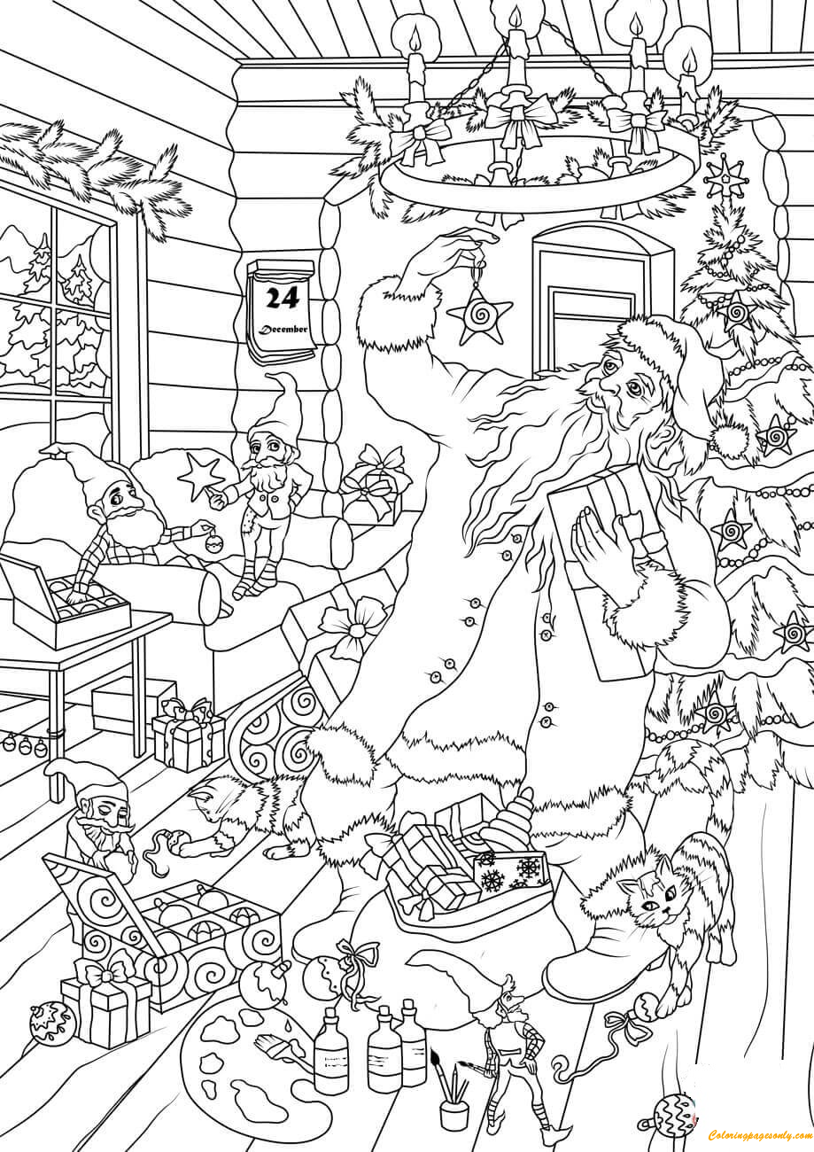 Elf Coloring Pages - GetColoringPages.com | 1300x919