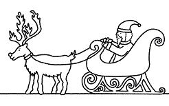Santa Claus And Sleigh Coloring Page