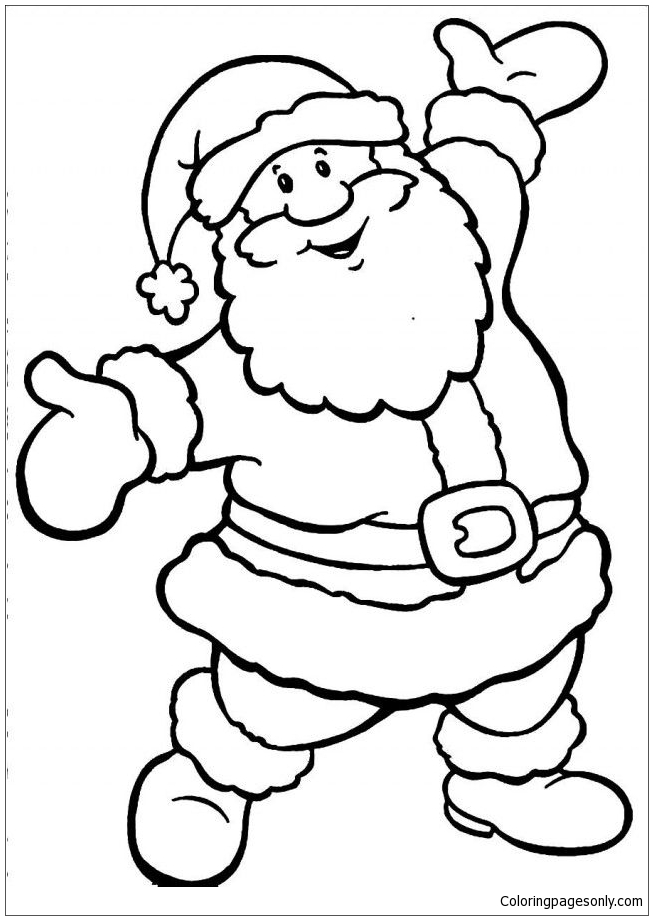Santa Claus Christmas Coloring Page - Free Coloring Pages Online