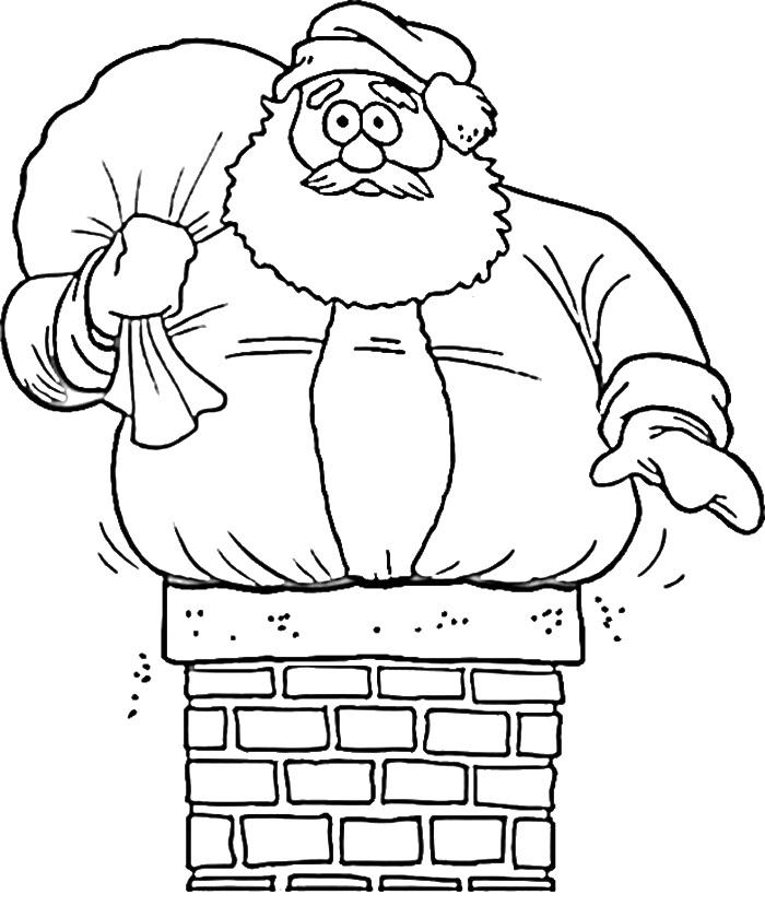 Santa Claus Is So fat Coloring Page