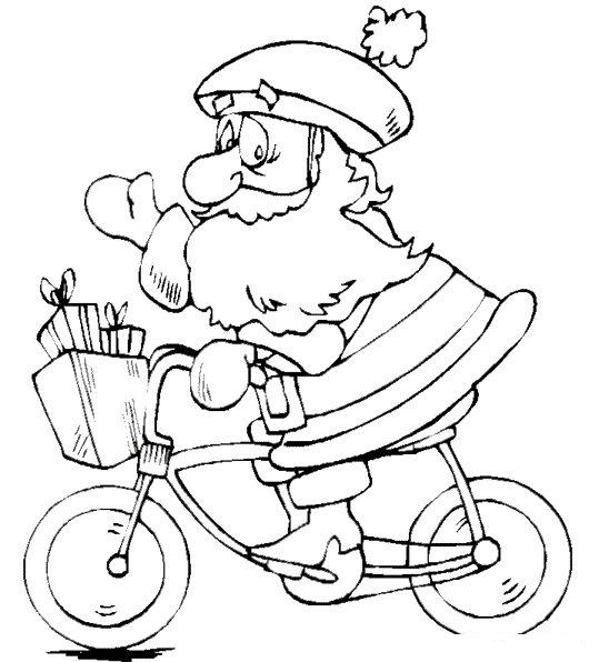 Santa Claus Ride A Bike
