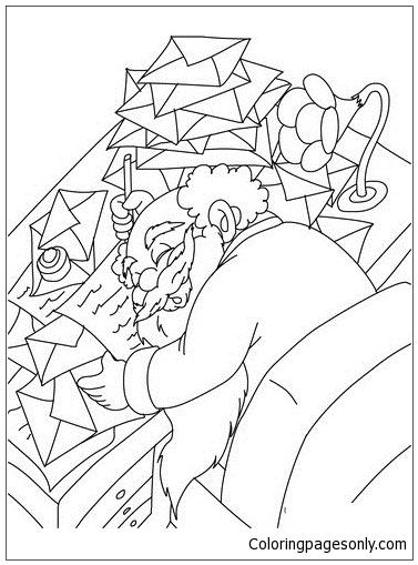 Santa Claus Sleeping Coloring Page Free Coloring Pages Online Sleeping Coloring Page