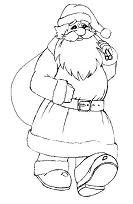 Santa Claus Vintage Coloring Page