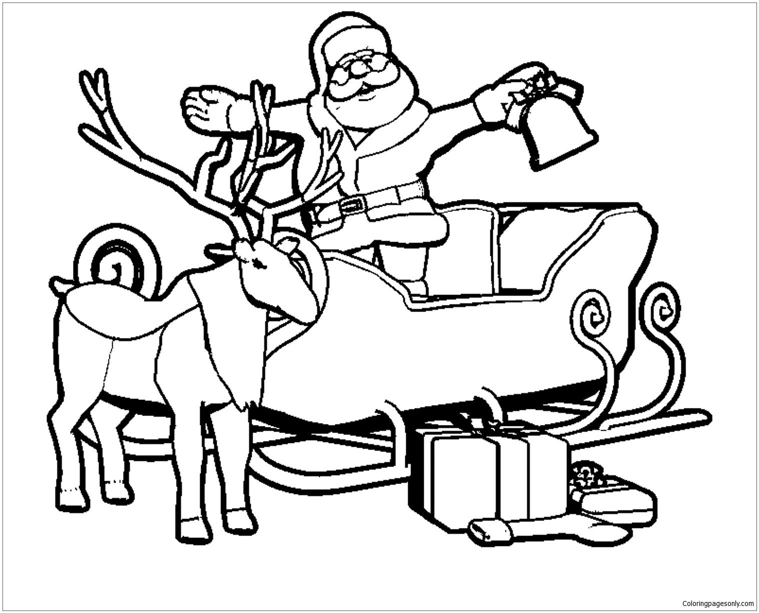 Santa For Christmas Coloring Page