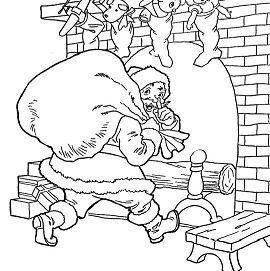 Santa Goes Up The Chimney