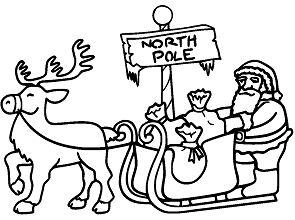 Santa In Sleigh Pulled