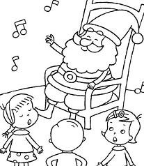Santa Listening Kids Singing Christmas