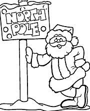 Santa to North Pole Coloring Page